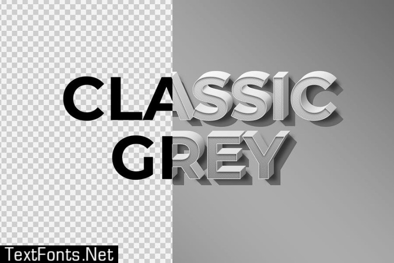 Classic Grey Text Effect SP7835A
