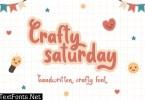 Crafty Saturday - Handwritten Crafty Font