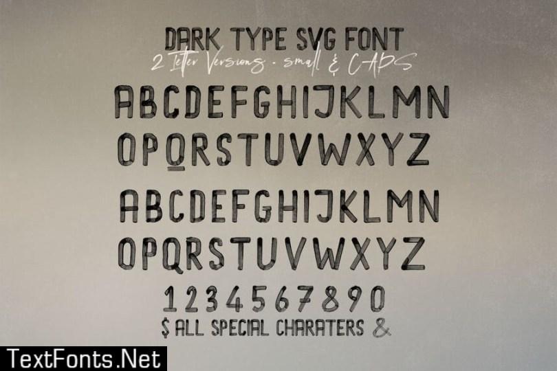 Dark Type Brush & SVG Font