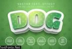 Dog footprint - editable text effect, font style