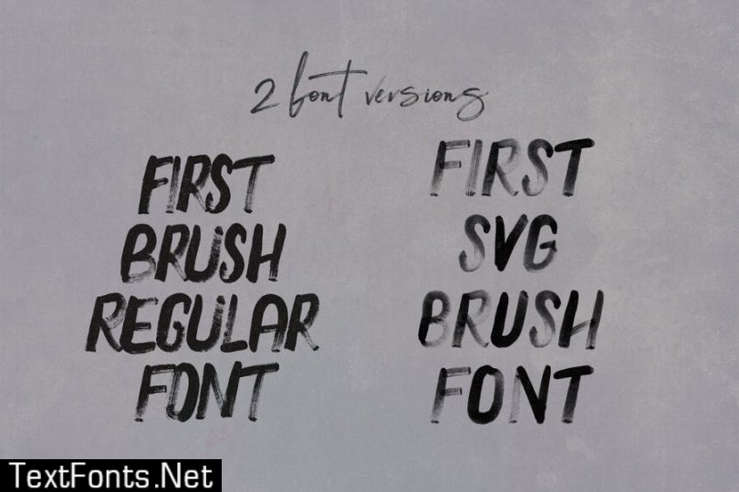 First Brush & SVG Font