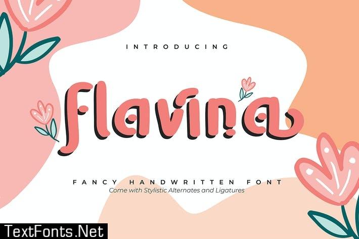 Flavina   Fancy Handwritten Font
