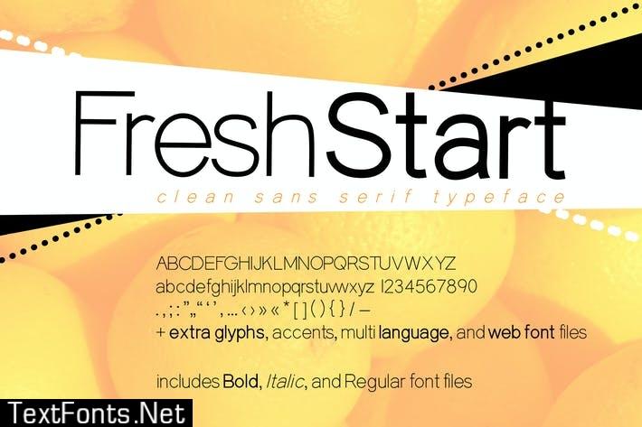 Fresh Start Geometric Sans Serif Font + Web Fonts