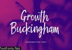 Growth Buckingham Brush Handwritten Font