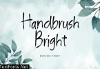 Handbrush Bright Brush Handwritten Font