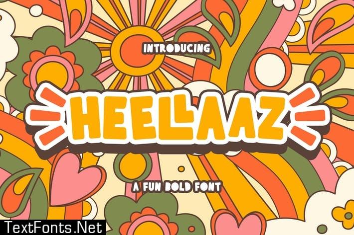 Heellaaz - Fun Bold Display Sans