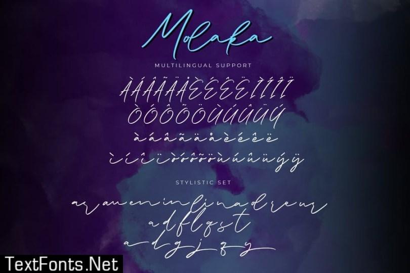 Molaka Modern Script Font