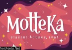 Motteka - Playful Bouncy Font