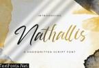 Nathallis - Handwritten Font