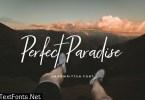 Perfect Paradise Handwritten Script