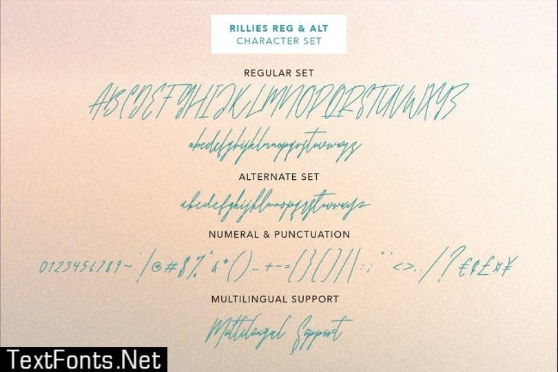 Rillies Modern Signature Font