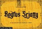 Rogfus Sejatty - Blackletter Font