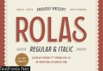 Rolas - Regular and Italic