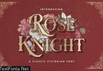 Rose Knight - Victorian Style Font