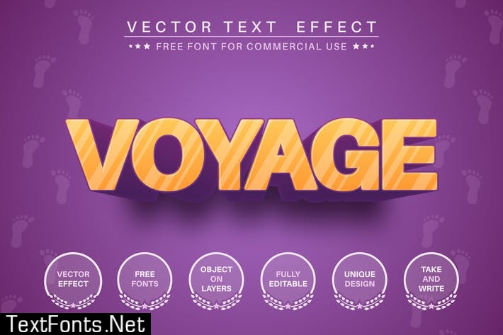 Sunset voyage - editable text effect, font style U72ZF2M