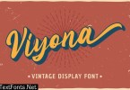 Viyona - Vintage Display Font