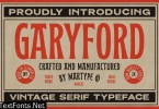 Garyford Vintage Display Font