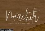 Marchita Script Font