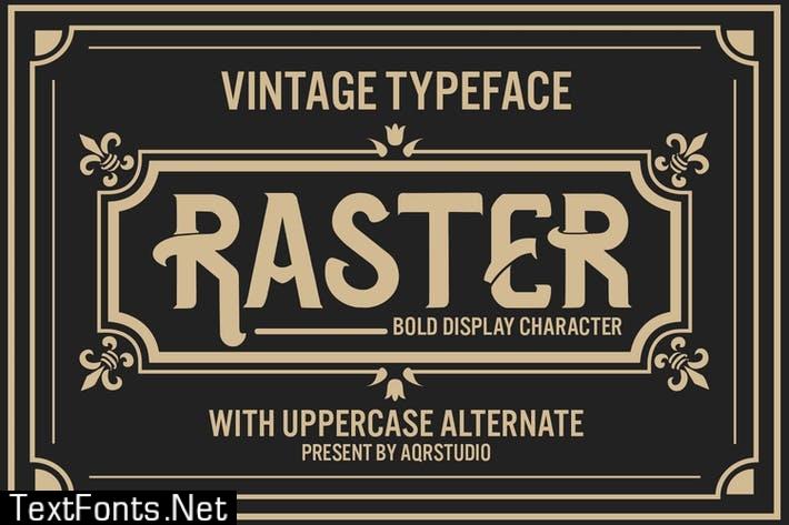 Raster - Vintage Blod Display Font