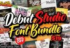 Debut Studio Font Bundle