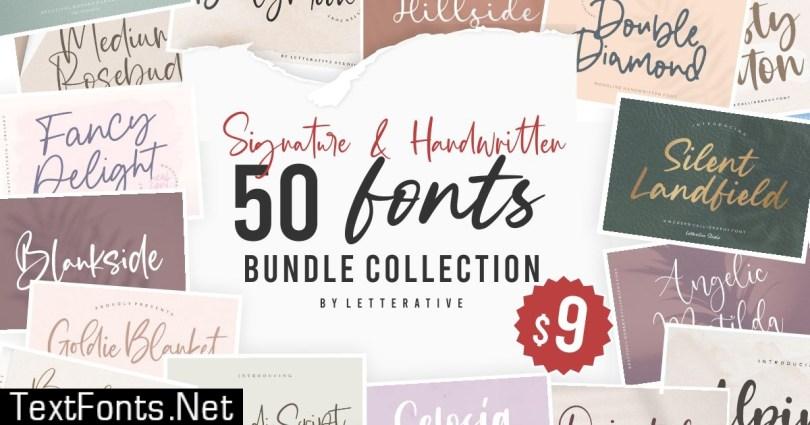 Signature & Handwritten Fonts Bundle