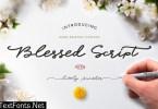 Blessed Script Font
