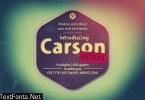 Carson Extra Font