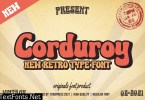 Corduroy - Classic Groovy font