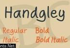 Handgley Font