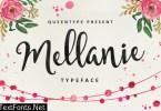 Mellanie Typeface Font
