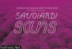 Savoiardi Sans Font