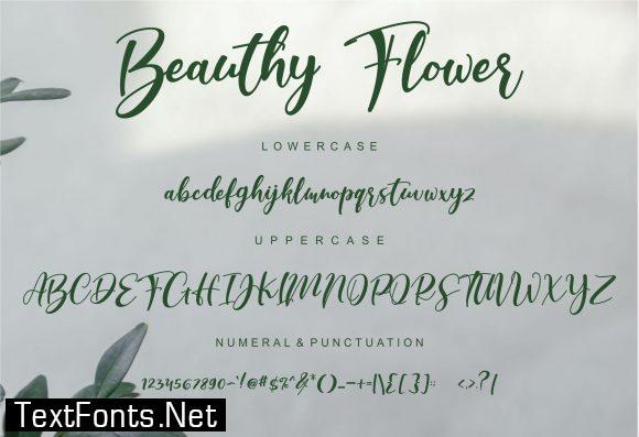 Beauthy Flower Font