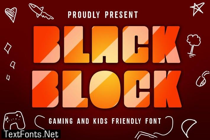 Black Block Gaming FontBlack block is playful bold font that made for playful project like game, board game, kids app, school, education.