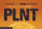 Black Planet - 3D Lettering