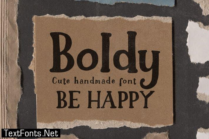 Boldy - Cute Handwritten Font