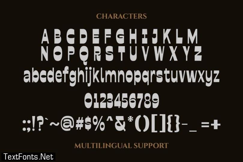 Bolged - Reverse Contrast Font
