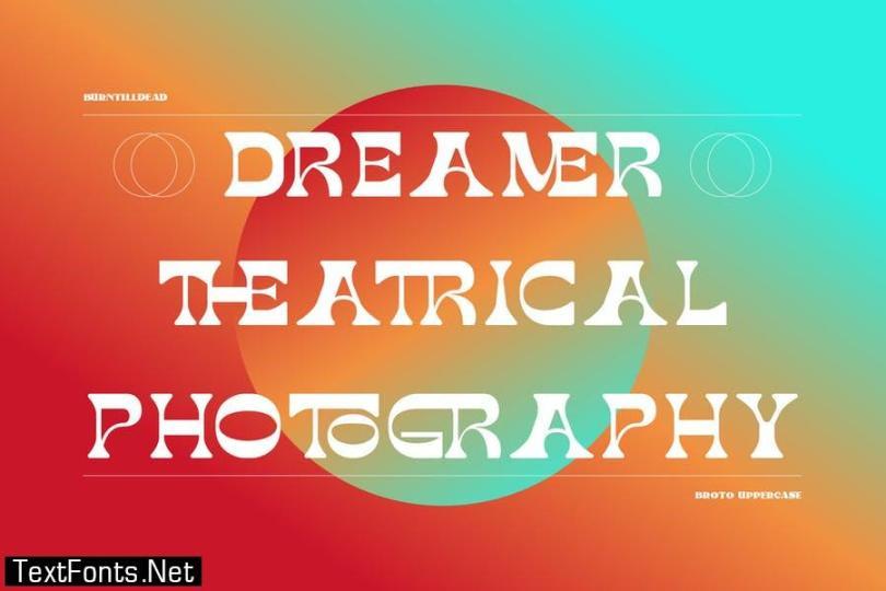 Broto - Display font & 100 ligatures