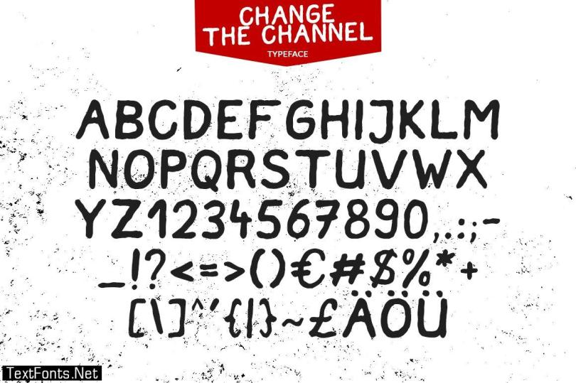 Change the Channel - Handmade Font 1166080