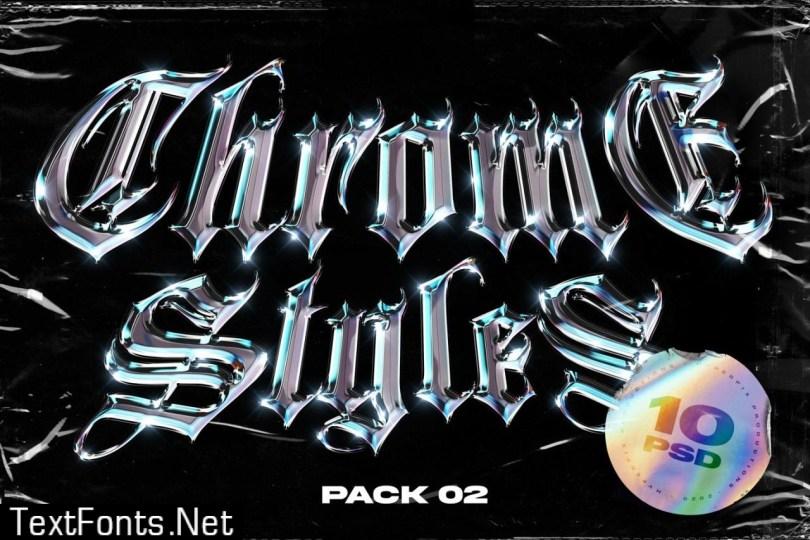 Chrome Text Styles Vol.2