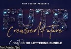 Creased Future – 3D Lettering