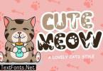 Cute Meow Font