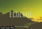 Ecolure Font