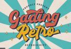 Gading Retro Retro Script 6100535