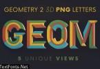 Geometry 2 - 3D Lettering