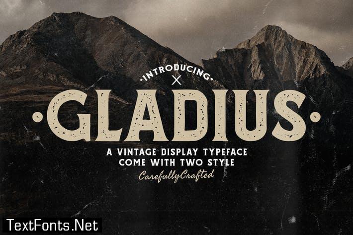 Gladius Vintage Display Typeface
