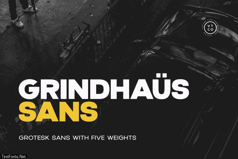 Grindhaus Sans Font Family