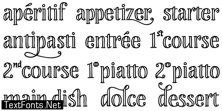 Liebe Restaurant Menu, Cook & Lettering Fonts