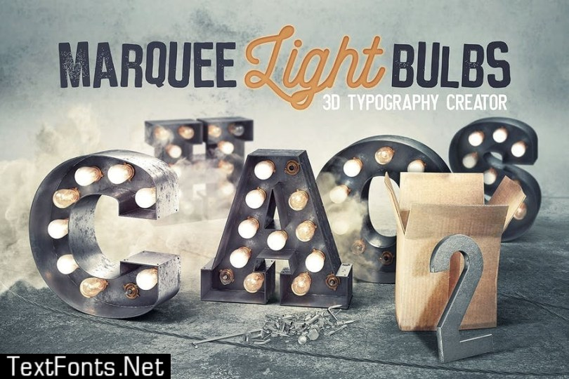 Marquee Light Bulbs Chaos 5 - Black Lettering