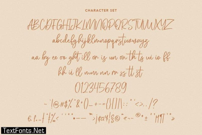 Melly Hailey Handwritten Font