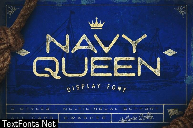 Navy Queen Display Font 516671